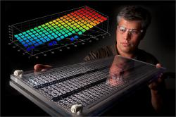NREL's membraine: There's so much science in his head it's projecting colorfully out into the air as a graph.