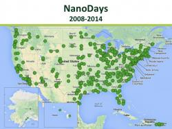 NanoDays 2008-2014 map