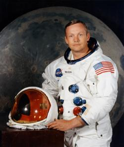 Astronaut Neil Armstrong: First person to step on the moon.