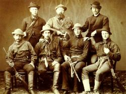 O. C. Marsh (middle standing): with student members of 1870 Yale fossil expedition