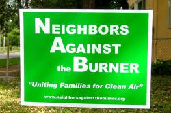 Neighbors against the burner: Rock-Tenn neighbors organize to promote better choices.