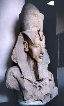 Pharaoh Akhenaten: Classic Amarna Period sculpture of the Pharaoh Akhenaten.