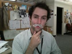 It was working: until my 'stache fell off. AGAIN!