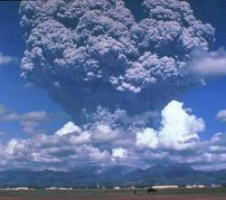 Pinatubo spewing ash in 1991