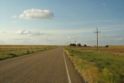Just a road in Texas: No chupacabras, or ill coyotes, so just chill out. Watch the video, huh?