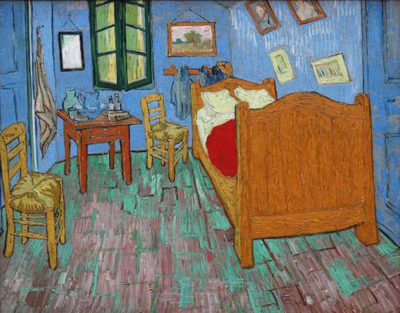 Oil painting (The Bedroom) by Vincent Van Gogh (Art Institute of ...