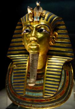 Tutankhamun burial mask: One of the many wonderful treasures found in King Tut's tomb.