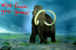 Although, despite its elephant mother: it should be a true genetic mammoth, and not some sort of hybrid Altered Beast.