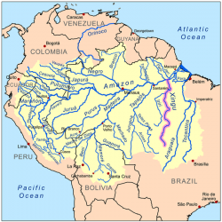 Belo Monte dam proposal on Xingu River