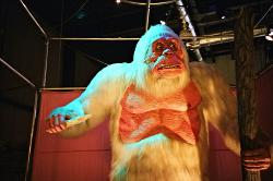 A yeti: preparing a powerful spell.
