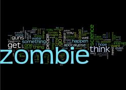 Zombie word cloud!
