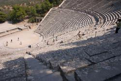 The amphitheater at Epidaurus has acoustics so good you can hear a pin drop, even when the seats are packed with 15,000 people: Photo by Randy Peters from flickr.com