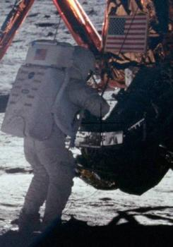 Moon walk: That's one small step for a man, one long step in sneaking office supplies.