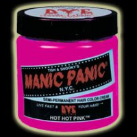 Hot Pink: I dye my hair hot pink every 2-3 weeks.