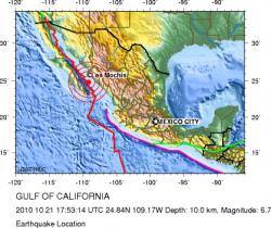 Mexico earthquake location
