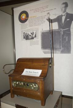 The theremin: An apropos sign adorns the instrument at the Bakken Museum of Electricity in Minneapolis, MN, since it can only be played by not touching it.
