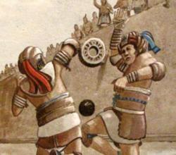 Maya ball game: When disputes arose during Maya ball games, players would reenact the play in slow motion for officials to determine if they made the correct call.