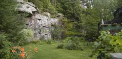 Old quarry in Barryville, New York: stone from here was used for pavement in Manhattan.