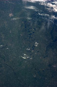 Minnesota from space: Astronaut Karen Nyberg has included an image of her Minnesota hometown of Battle Lake to her gallery of photos from space as she works on the International Space Station.