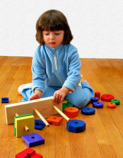 Playing with blocks helps young children develop language skills: Photo by chaim zvi from Flickr.com