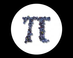 The symbol for pi (3.14...): and a blueberry pi at that.