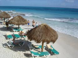 What a beach: In the aftermath of Hurricane Wilma in 2005, Cancun has had a hard time keeping sand on its beaches in its resort areas. Rebuilding efforts from the hurricane are quickly eroding away again, with up to 30 percent losses.