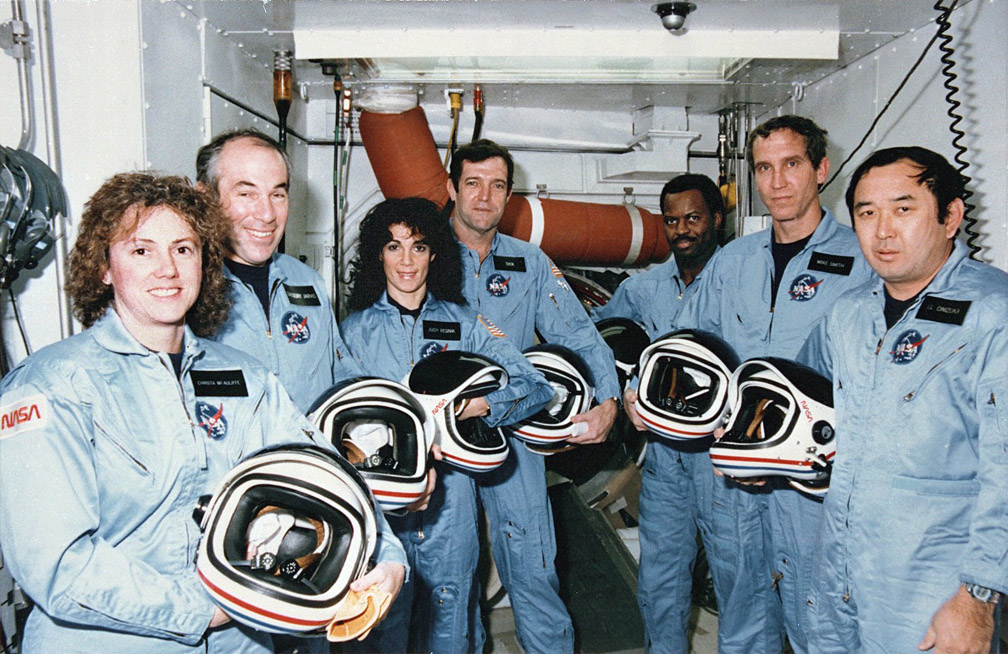 Space Shuttle Challenger Debris. Crew of the space shuttle