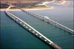 Big bridge: The Chesapeake Bay Bridge, which stretches for four miles, can be a scary place for someone with gephyrophobia, the fear of crossing bridges. Enough people have fear problems there that a special program is available to hire drivers to take gephyrophobes across the bridge.