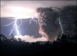 Ash and lightning: The phenomenon of volcanic activity triggering lightning was seen this week at the eruption of the Chaiten Volcano in Chile.