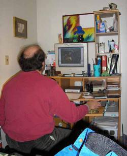 How has the Internet changed your life?: (Gene in his all-too-natural habitat.)