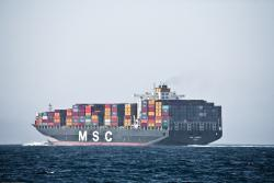 Slow boat to China: Cargo ships are cutting their sailing speeds to reduce costs.