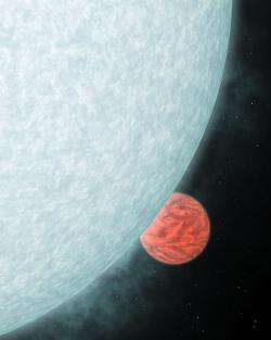 Artist rendition of newly formed planet orbiting its young star