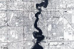 Red River flooding: NASA image created by Jesse Allen, using EO-1 ALI data provided courtesy of the NASA EO-1 Team. Caption by Holli Riebeek.