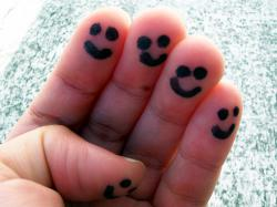 Happy fingers: They're only smiling because they've just thought of mean things to do to you, though.