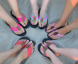 Trouble afoot?: Flip-flops are a popular type of shoe these days, especially in the warmer weather. But can they be causing some long-term foot damage? Some podiatrists think so. (Flickr photo by bridgetd517)