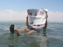Floating Free on the Dead Sea