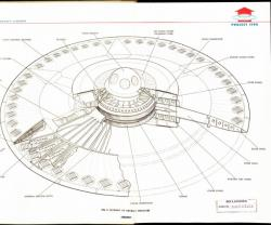 Flying saucer cutaway from Project 1794: Recent declassified documents show the US Air Force worked on developing a flying saucer in the 1950s.