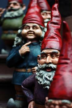 Which is the real gnome?: I'm not sure, but I'll tell you how to find out: hit each one with an aluminum baseball bat. Or drop them in an above ground pool. Or both.
