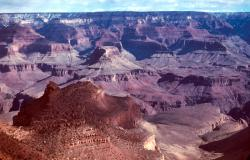 Natural Canyon: Here's a natural view of the Grand Canyon, the vantage point from which most visitors experience the canyon on visits there.
