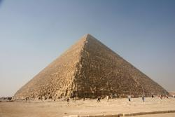 The Great Pyramid at Giza: The sole surviving member of the original Seven Wonders of the World list. Wikipedia Creative Commons photo by Nina Aldin Thune.