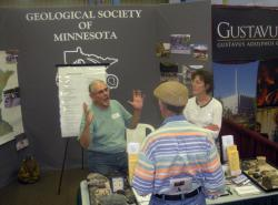 Geology: The Geological Society of Minnesota booth in the Education Building.