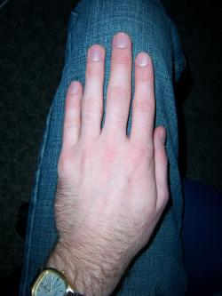 Guess who this hand belongs to: All right, what can y'all tell JGordon about himself?