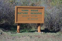 Sign at Hawk Ridge: Photo by Mark Ryan