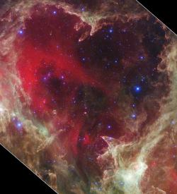 A Valentine for the universe?: A day late, sure, but when we're dealing with light years it doesn't seem like a big deal.