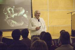 How to make a chickenosaurus: Paleontologist Jack Horner spoke about his methods during a talk at Macalester College in St. Paul, Minnesota.