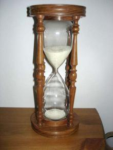 Hourglass: from Wikimedia Commons  Life is a gift. Use it wisely.