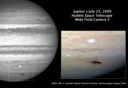 Hubble photo of Jupiter impact