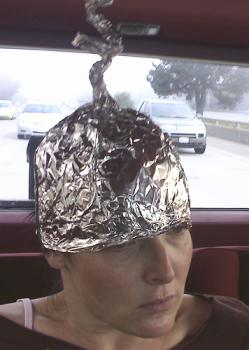 She's safe, but for how long?: As you read this, government agencies are developing mind-invasion technology that not even aluminum foil can stop.  (photo courtesy of jspaw on flickr.com)