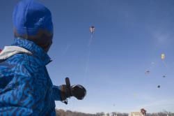 It ain't rocket science: But keeping a kite aloft takes more than just a good breeze.