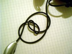 Tangled up in blue: A simple experiment shows why almost any long stringy thing will eventually tie itself into knots.